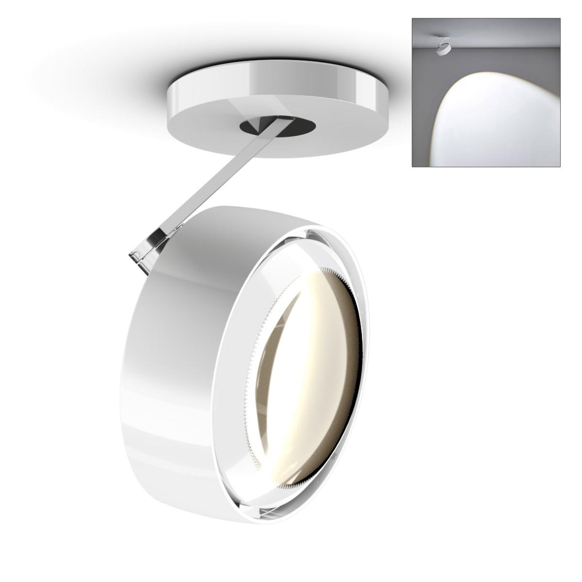 Occhio Più alto 3d Volt C80 Deckenstrahler, 2700 K, weiß glänzend / Chrom