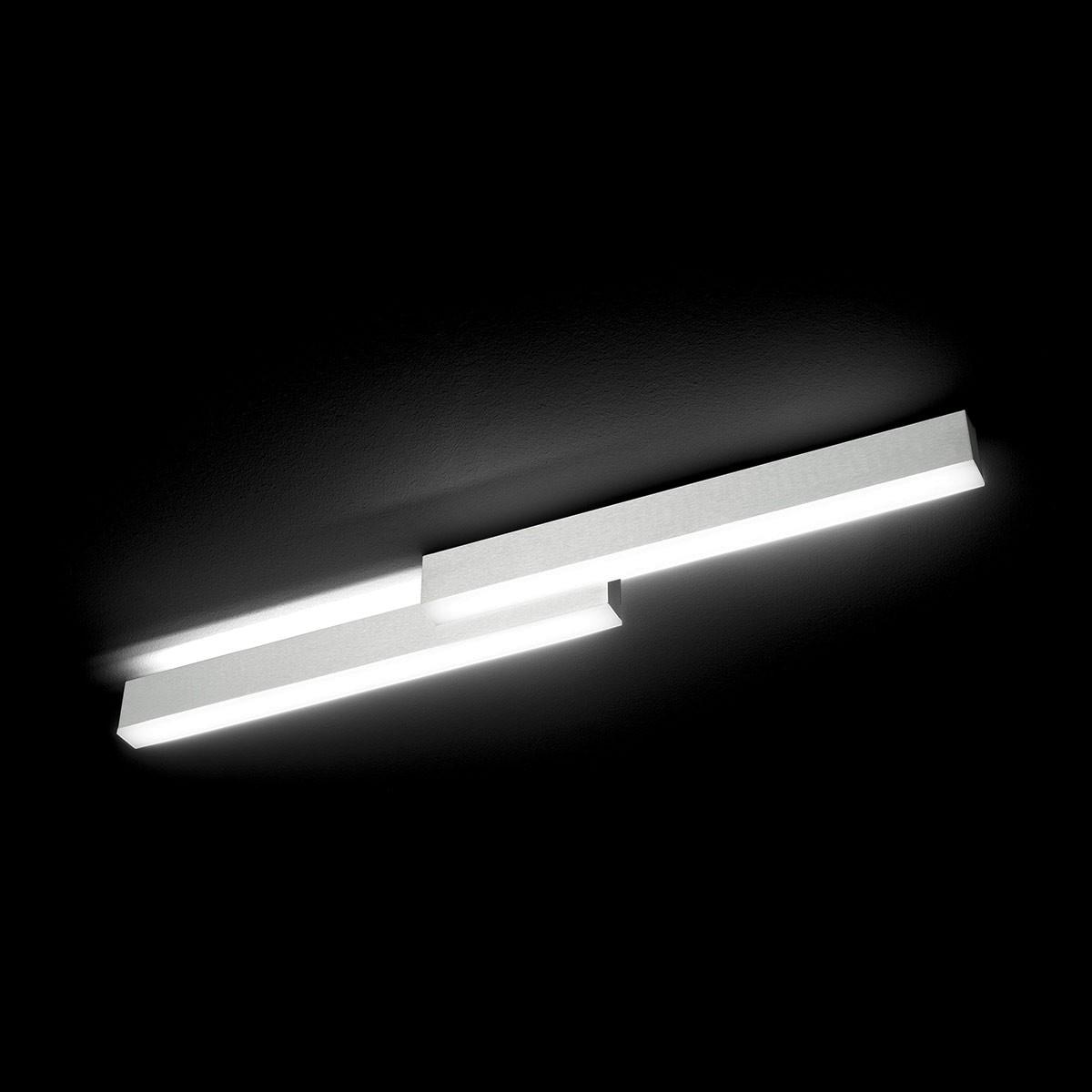 Grossmann Zon LED Wand- / Deckenleuchte, Länge: 79 cm, Aluminium gebürstet