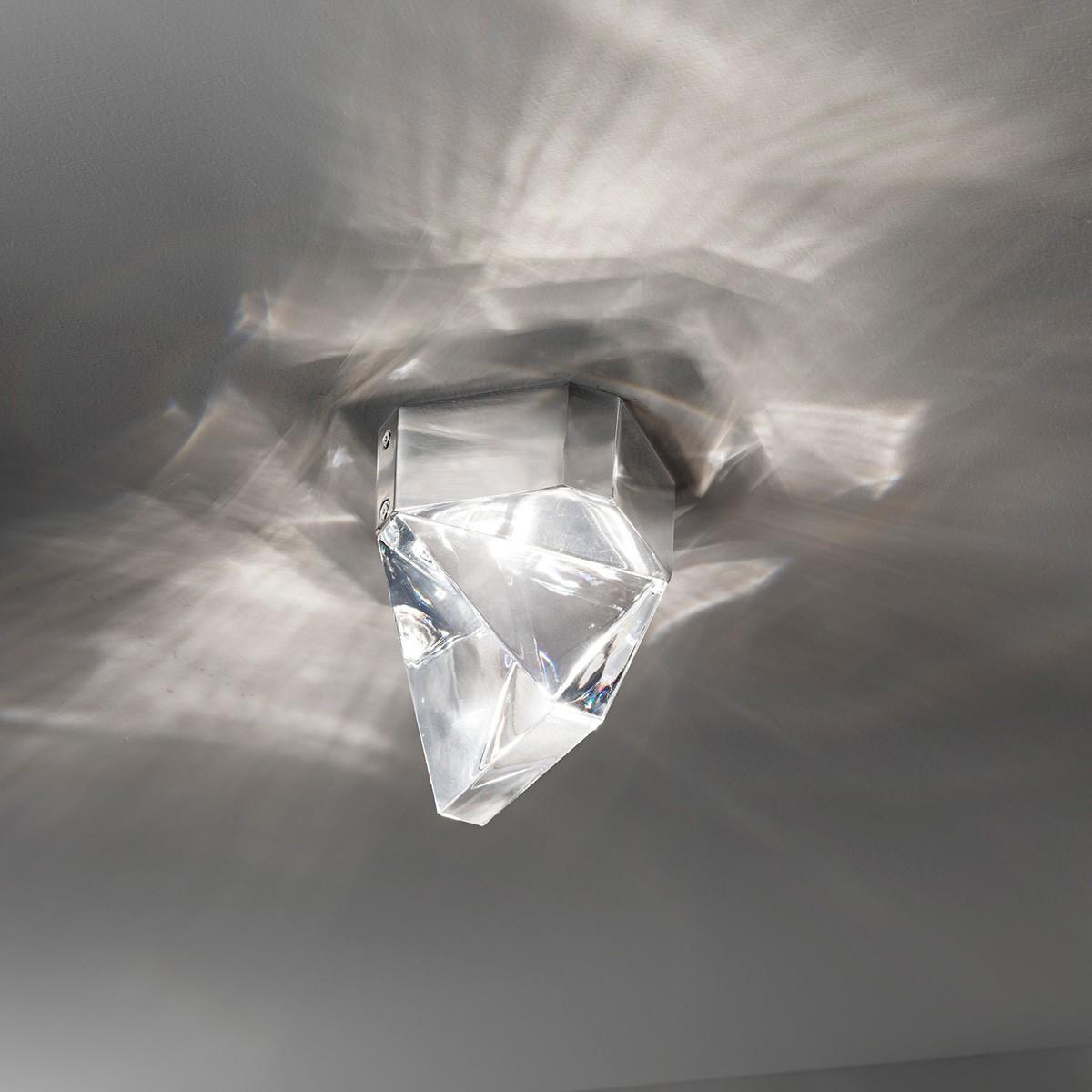 Fabbian Tripla Deckenleuchte, Aluminium poliert