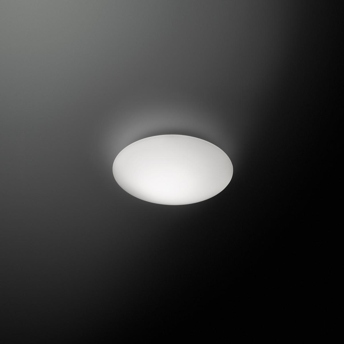 Vibia Puck LED Wand- / Deckenleuchte, 1-flg., Ø: 16 cm, weiß