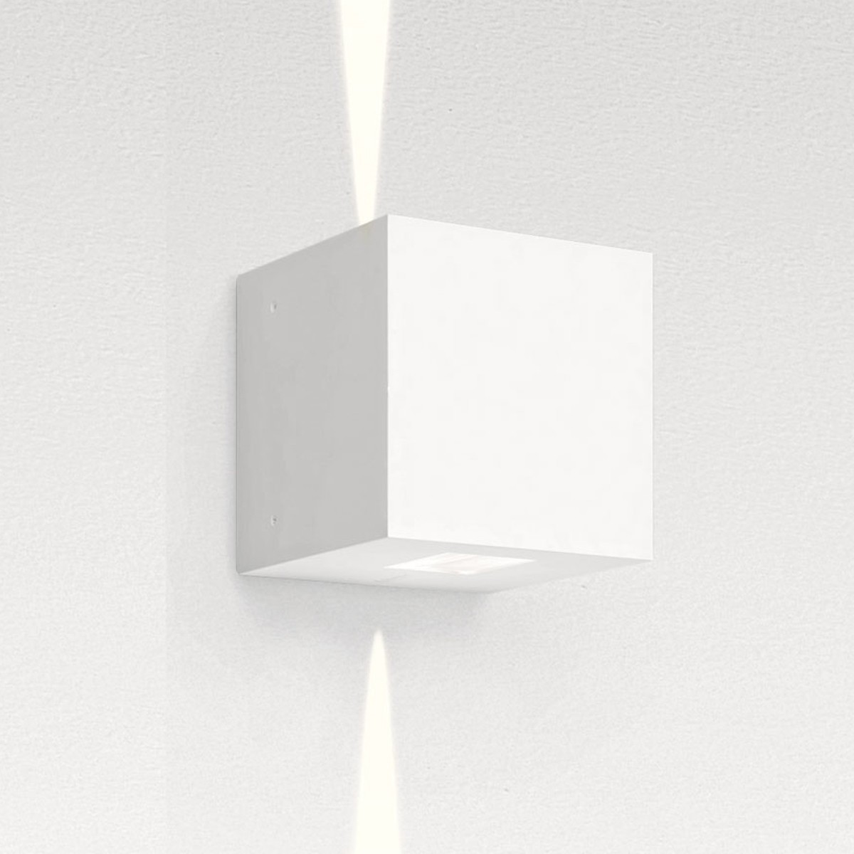 Artemide Outdoor Effetto 14S LED 2N Wandleuchte, 2 x 5°, 3000 K, hellgrau