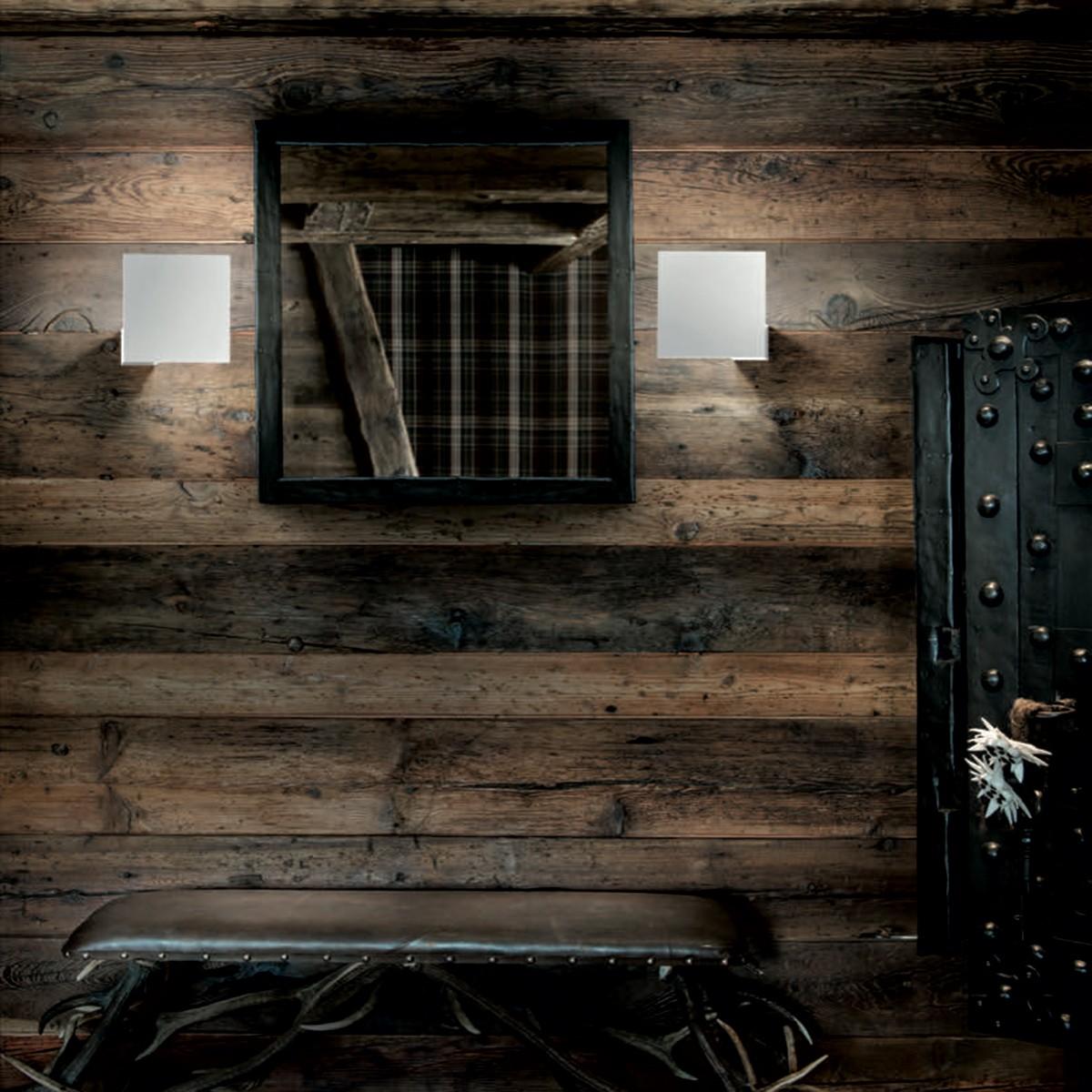 Studio Italia Design Puzzle Single Square Wand - / Deckenleuchte, weiß matt, 3000° K