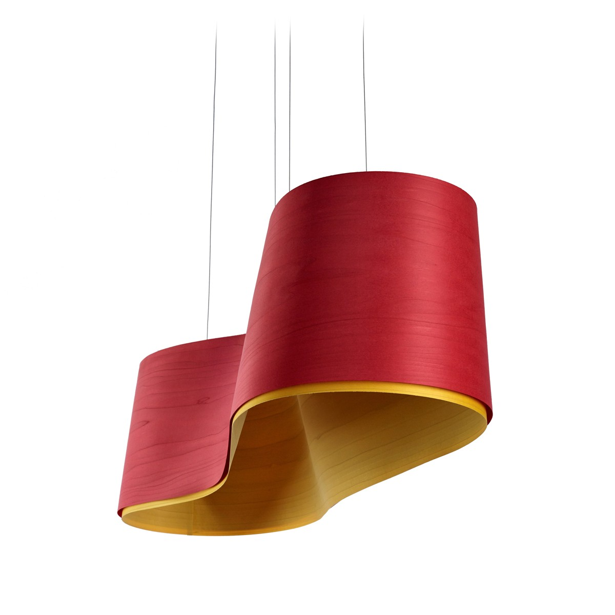 LZF Lamps New Wave LED Pendelleuchte, rot, innen: gelb