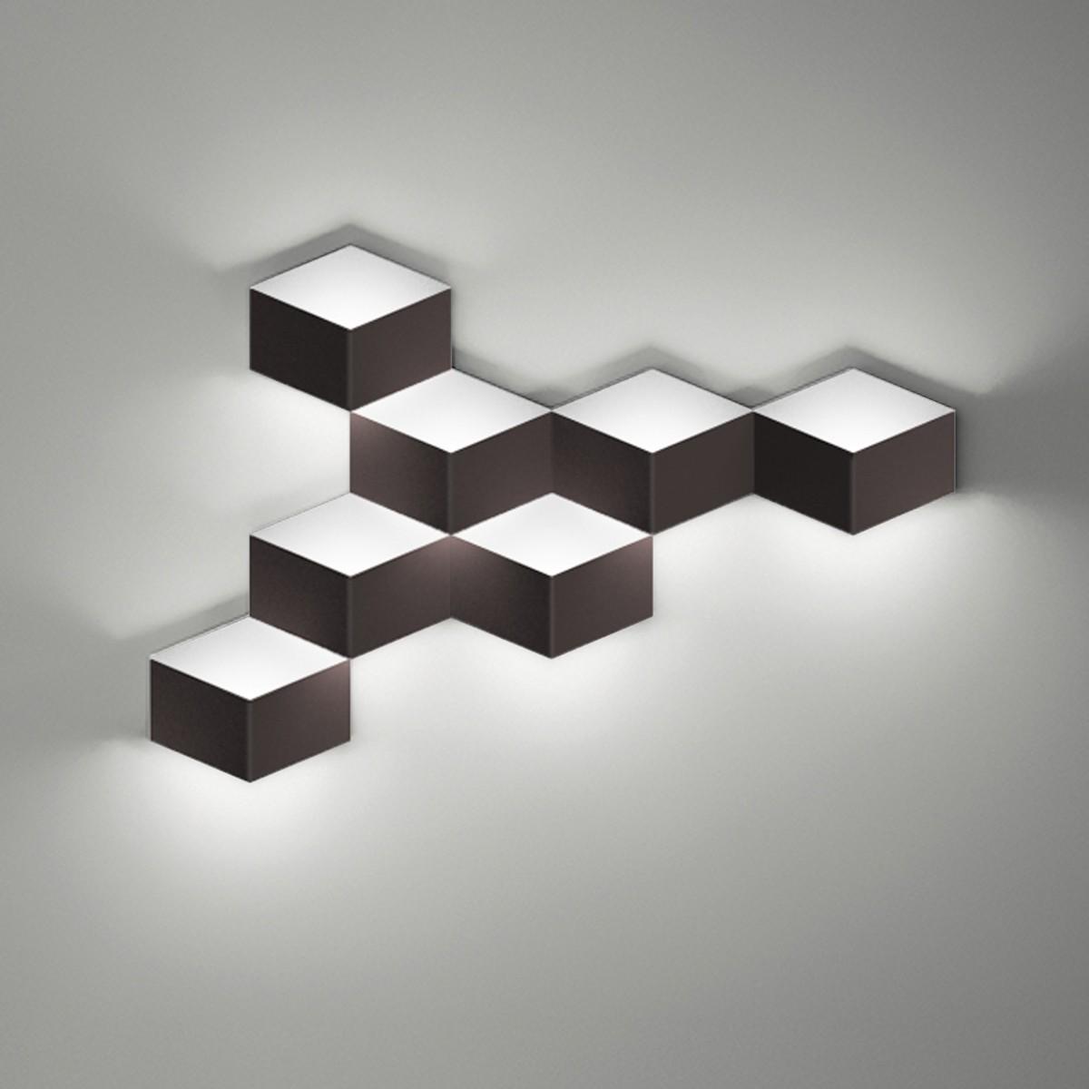 Vibia Fold 4207 Wandleuchte, dunkelbraun matt