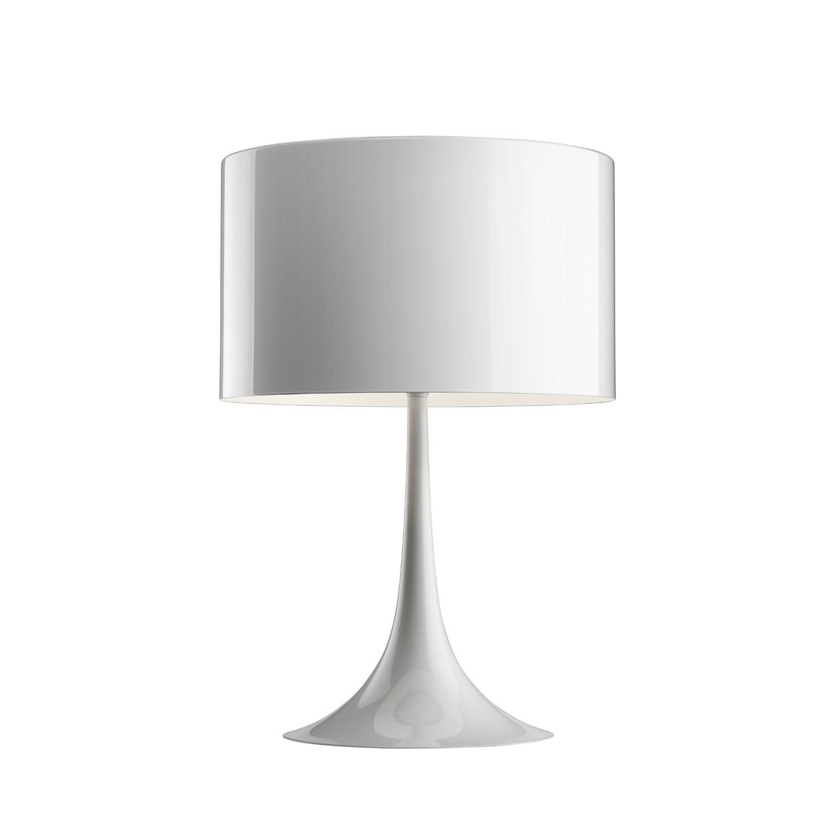 Flos Spun Light T Tischleuchte, T1, Höhe: 57,5 cm, weiß glänzend