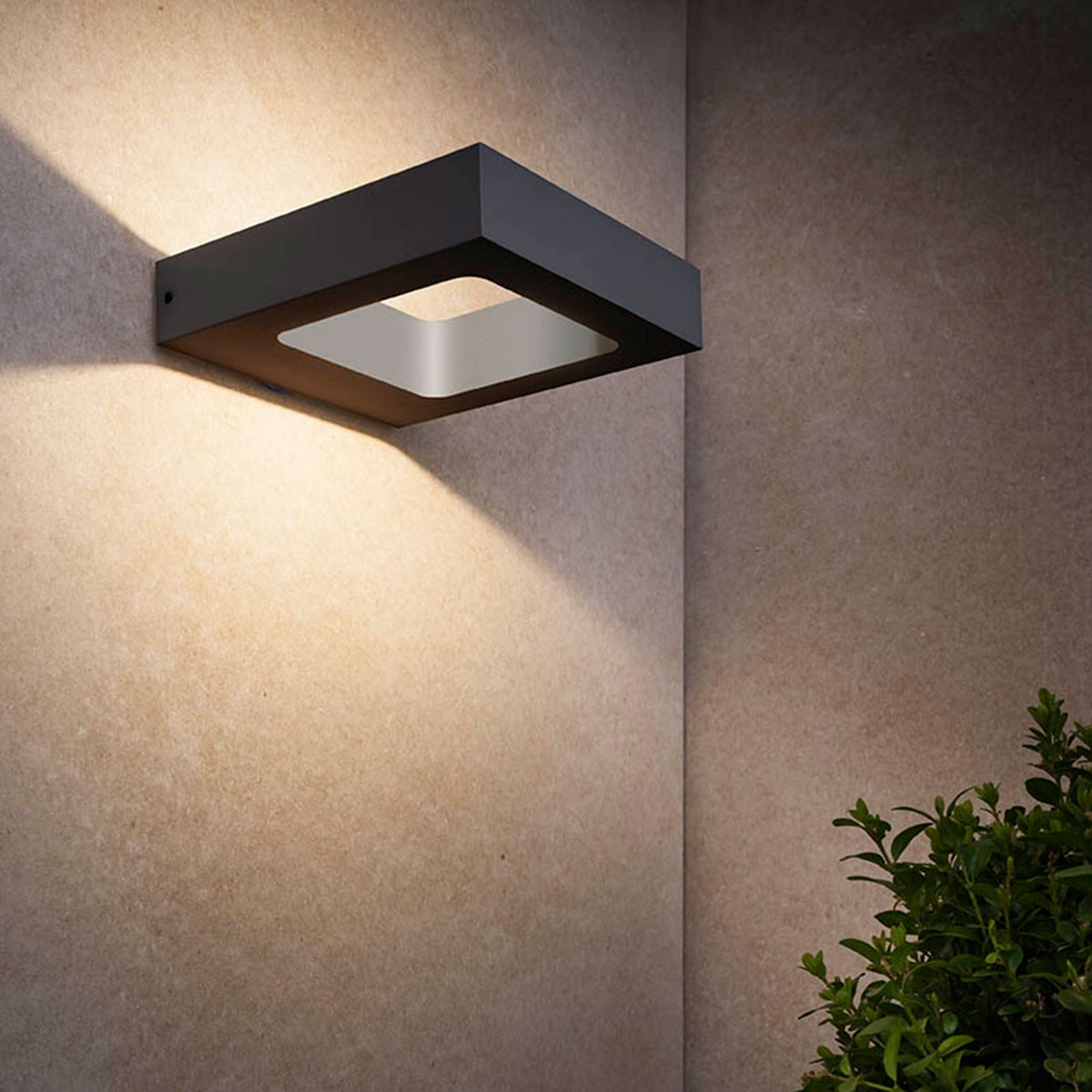 MyLight Carre LED Wandleuchte, schwarz