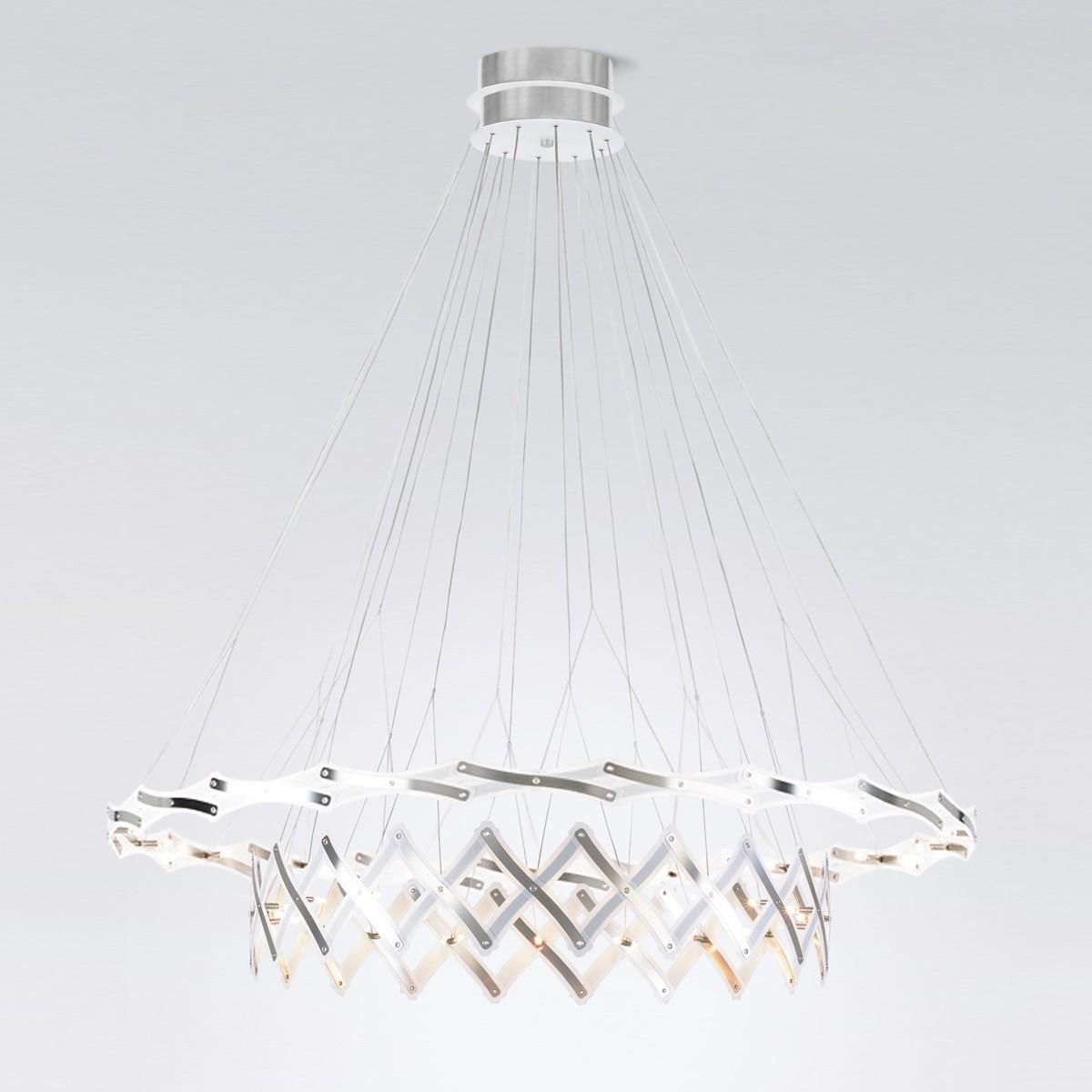 serien.lighting Zoom Master Pendelleuchte, 2 Elemente Ø: 20–130 cm, 40-flg.