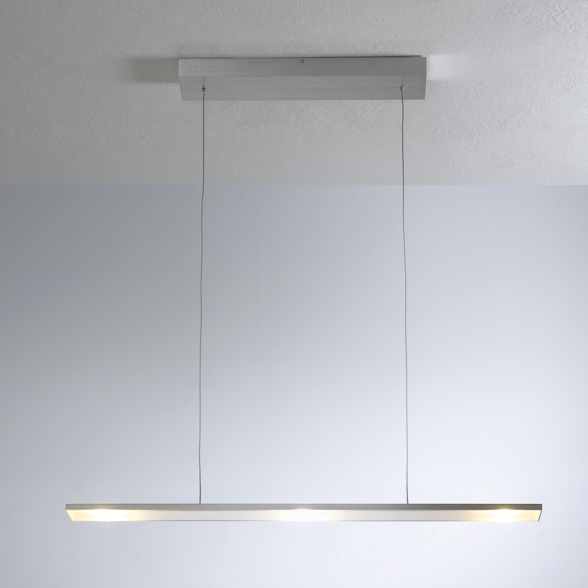 Bopp LEDs Go Pendelleuchte 3-flg., Aluminium geschliffen, extern dimmbar