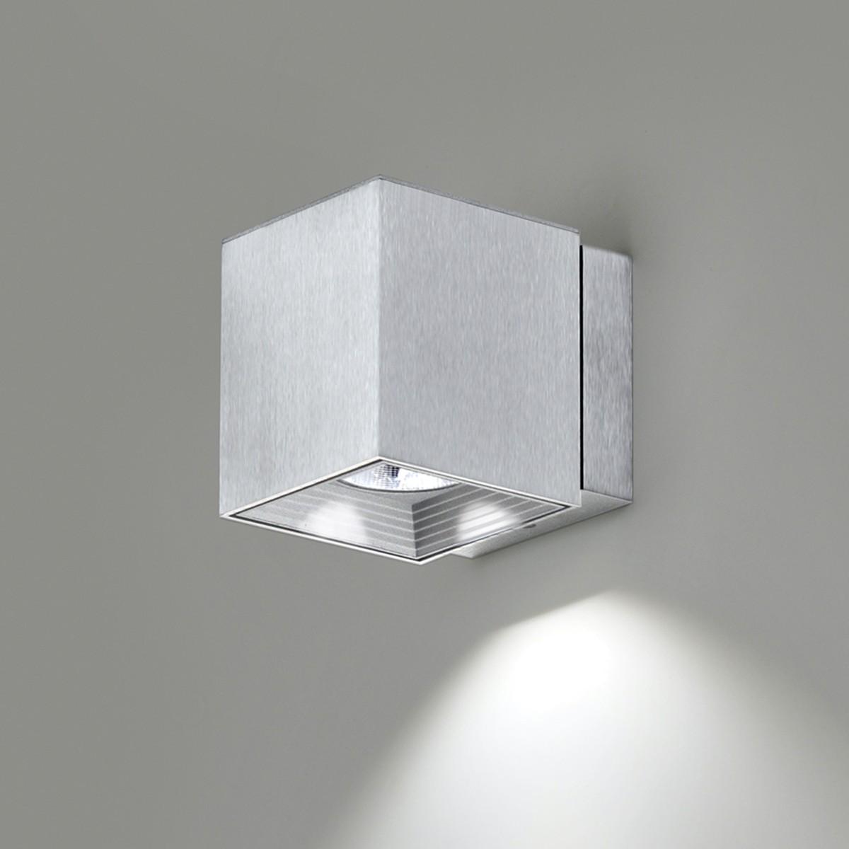 Milan Dau Spot LED Wandleuchte, Aluminium