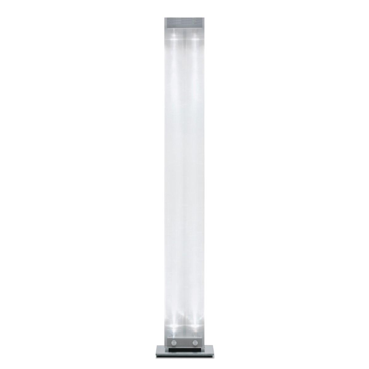 Belux Twilight-10 Stehleuchte LED, mit Dimmer, Chromstahl/Acrylglas