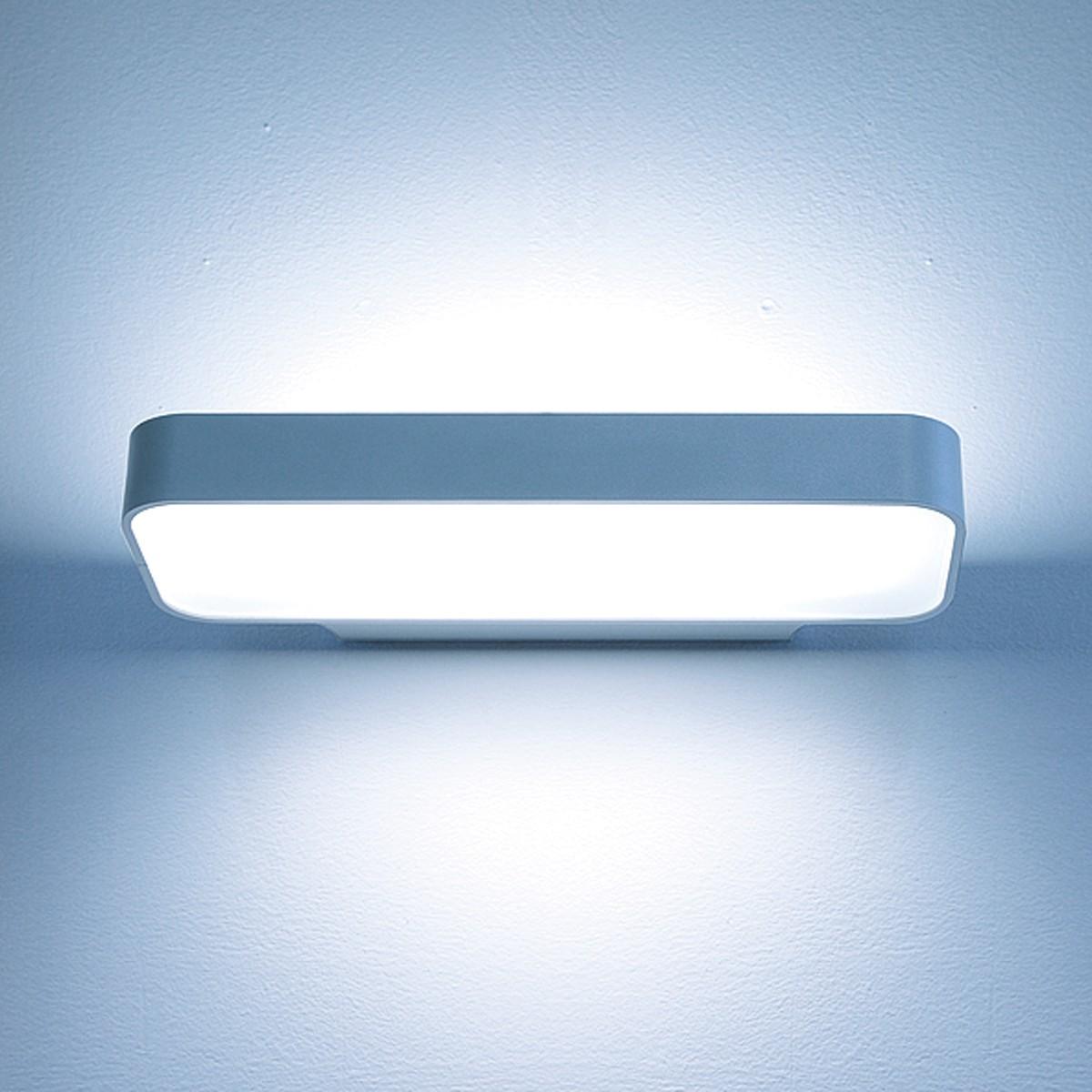 Lightnet Caleo-W3 Wandleuchte, Opal, Breite: 32 cm, Silber matt