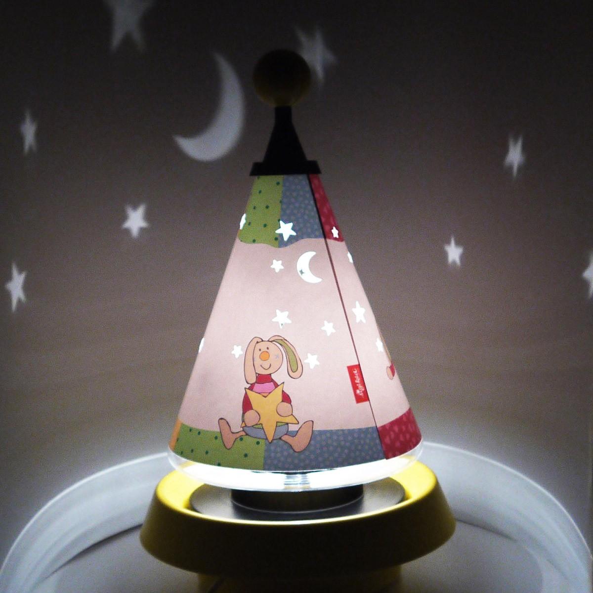Niermann Standby Rainbow Rabbit Carrousel Tischleuchte, mit Sternen Projektion