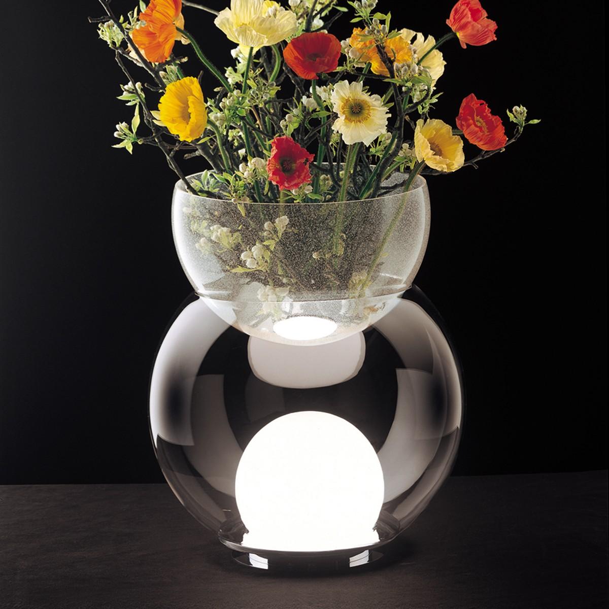 Fontana Arte Giova Tischleuchte, Höhe: 59 cm, Glas