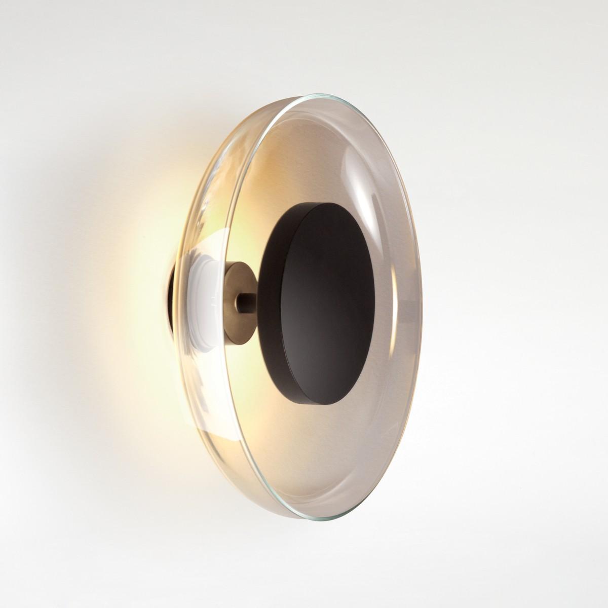 Marset Aura Plus LED Wandleuchte, fumé (Rauchglas)