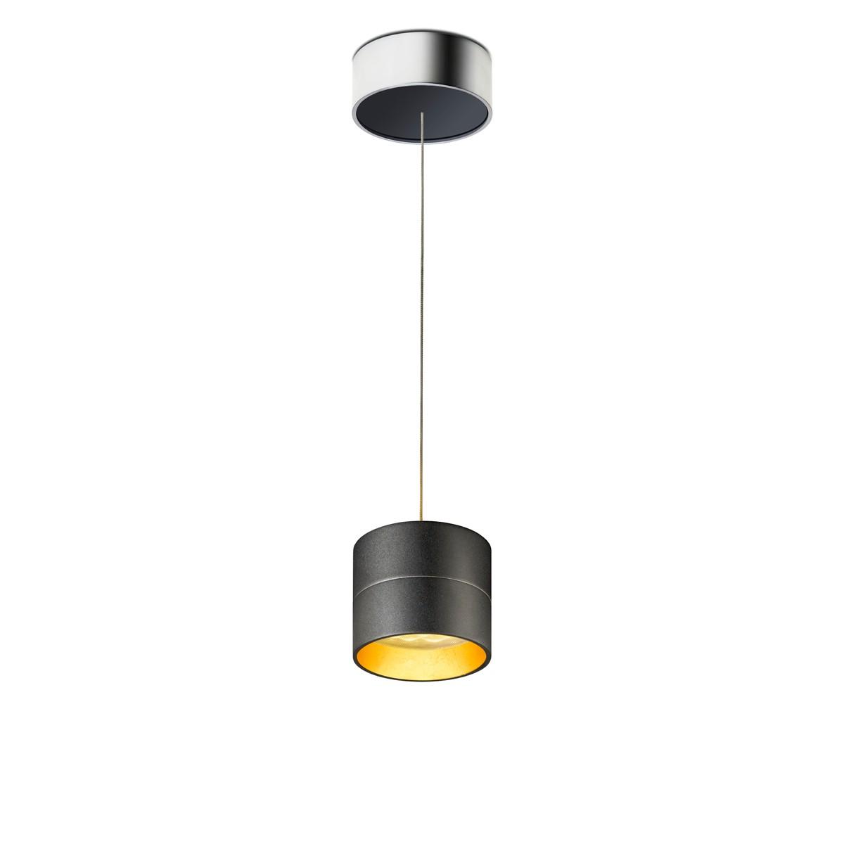 oligo tudor s pendelleuchte schwarz matt blattgold mobil saege werk bickenbach. Black Bedroom Furniture Sets. Home Design Ideas