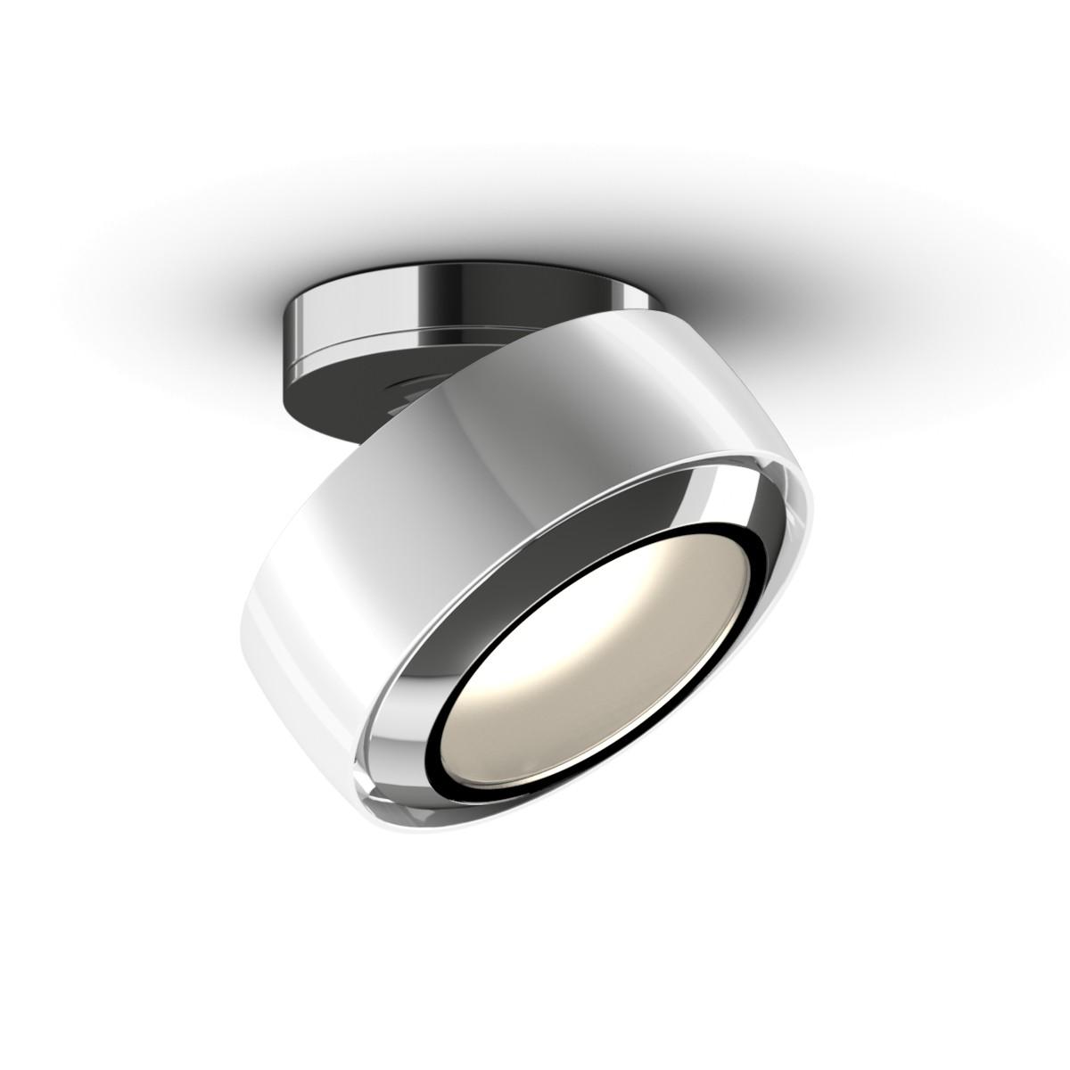 Occhio Più R alto Volt S40 Deckenstrahler, 2700 K, weiß glänzend / Chrom