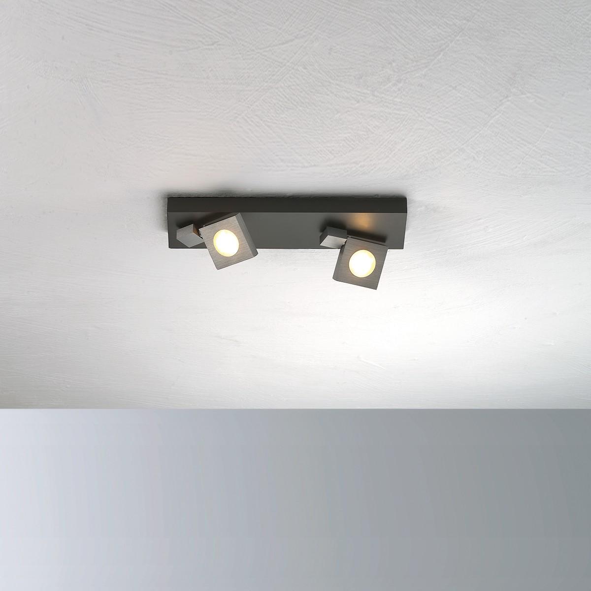 Bopp Flash Deckenleuchte 2-flg., anthrazit - schwarz lackiert