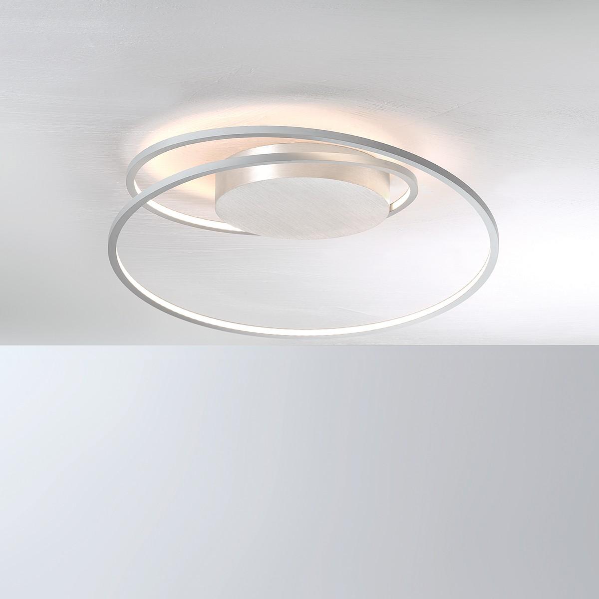 Bopp AT Deckenleuchte mit Modul, Aluminium geschliffen, Ø: 45 cm
