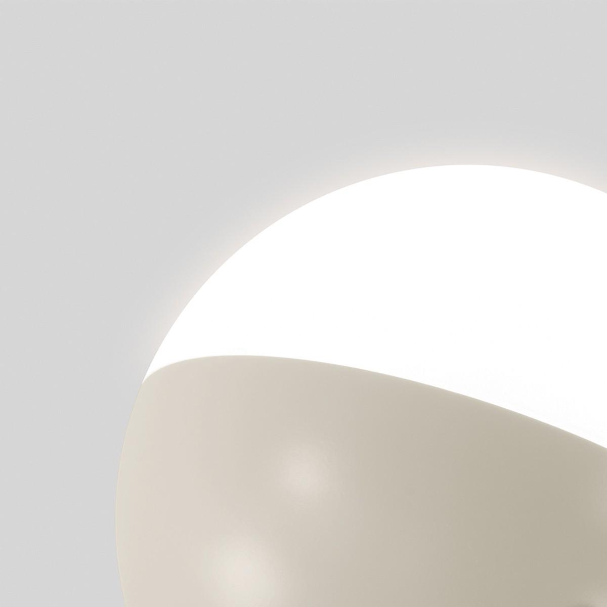 Milan Half Stehleuchte, Ø 16 cm, 2-flg., nerzfarben