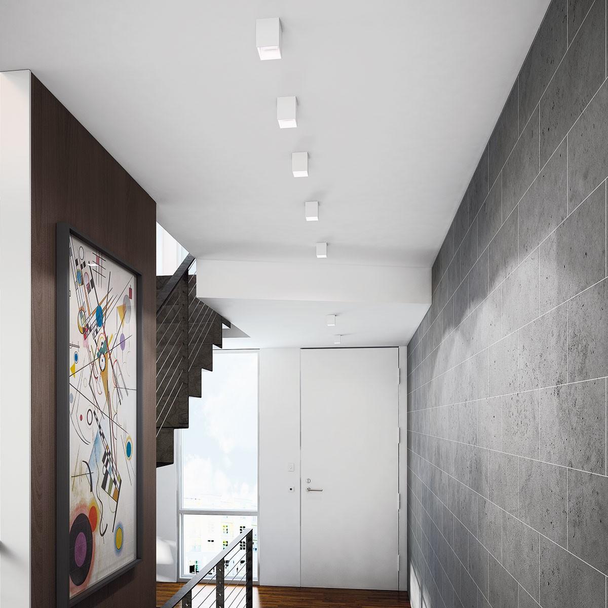 Milan Dau LED Deckenleuchte, weiß lackiert