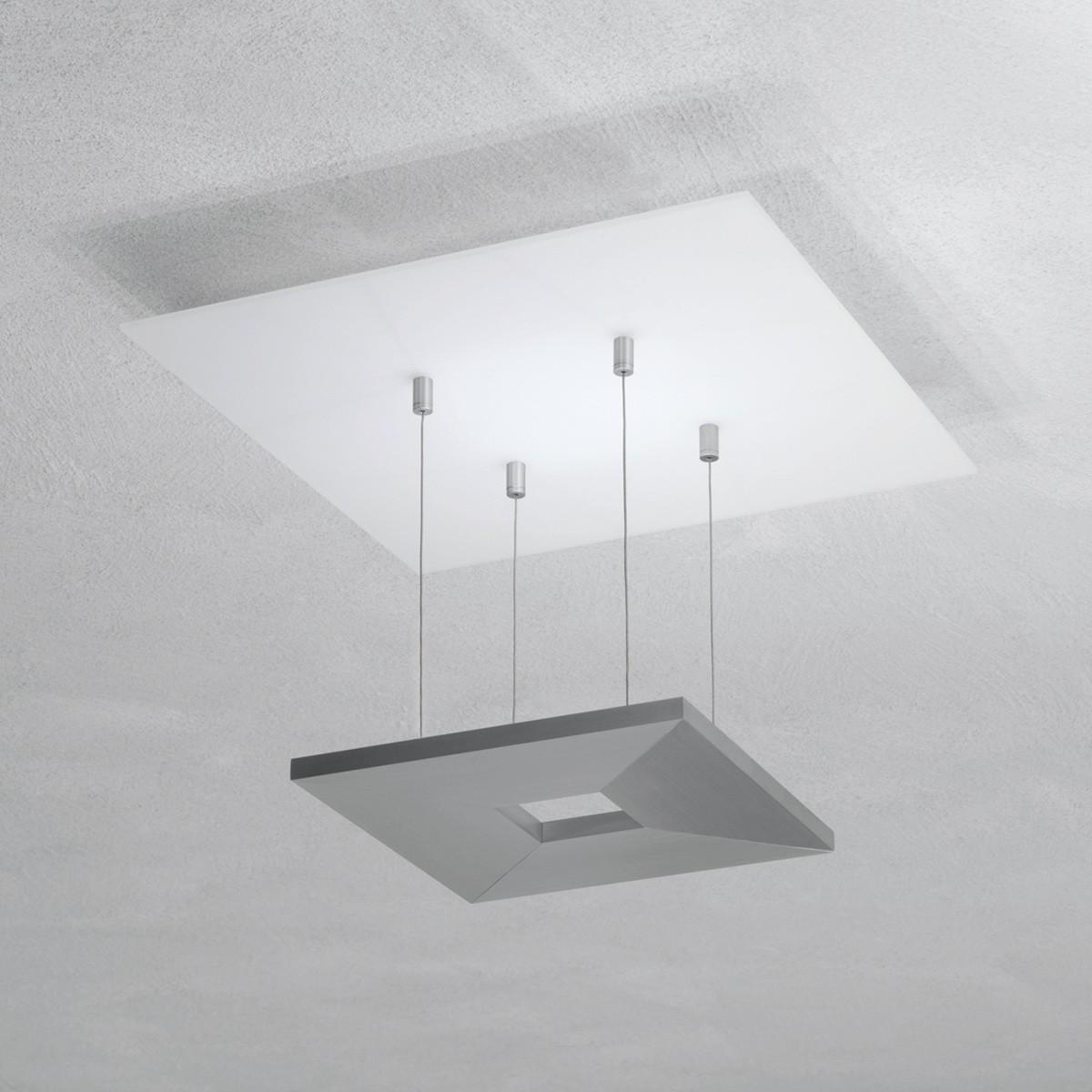 Escale Zen Deckenleuchte 4-flg., Glas / Aluminium geschliffen, ohne Dimmer