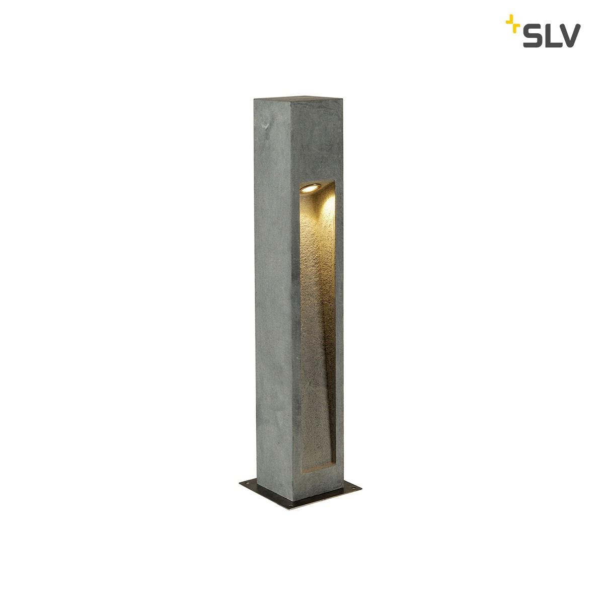 SLV Arrock Stone Außenstehleuchte, Höhe: 75 cm, steingrau