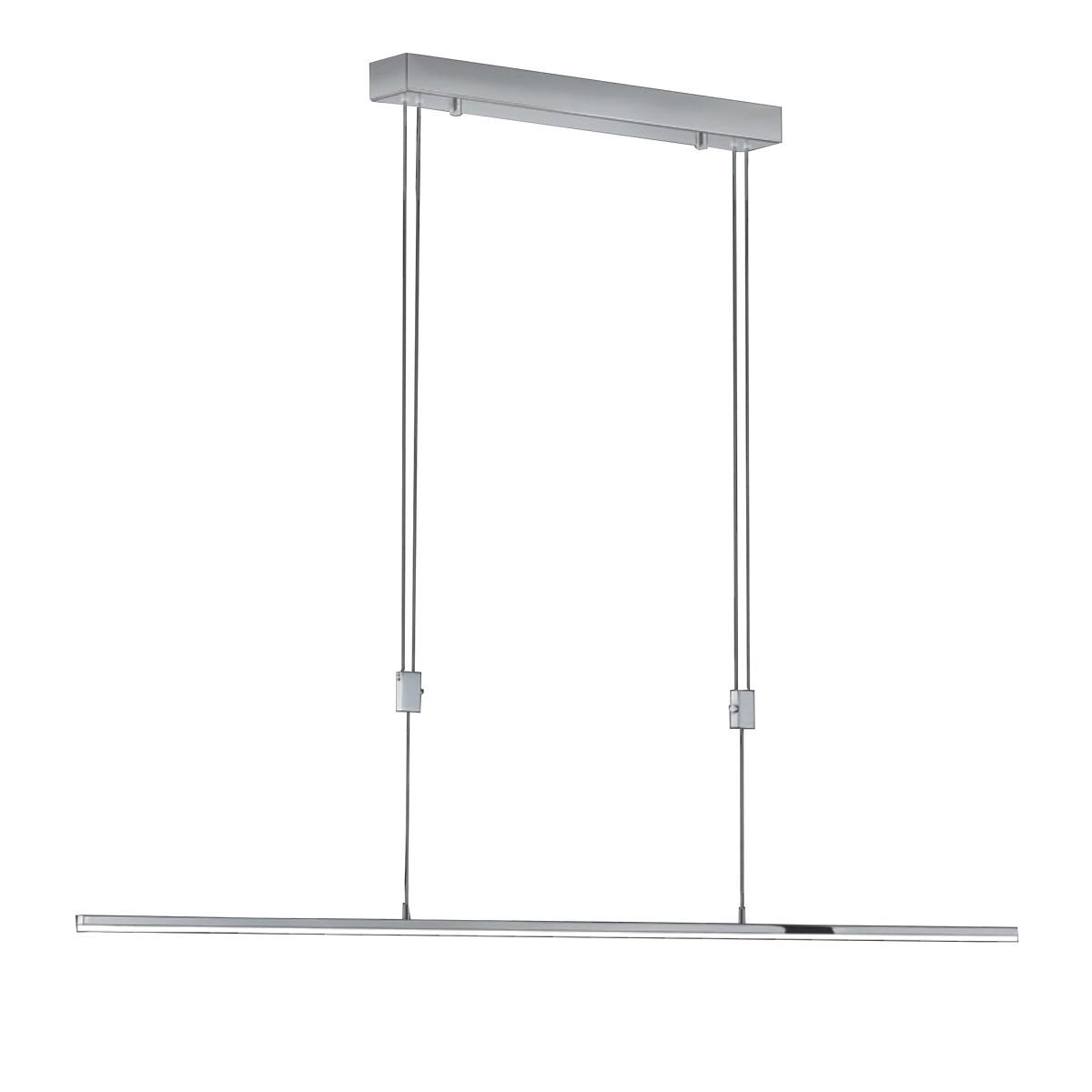 Bankamp Slim Pendelleuchte, Länge: 135 cm, Chrom, mit Easy-Touch und Bluetooth