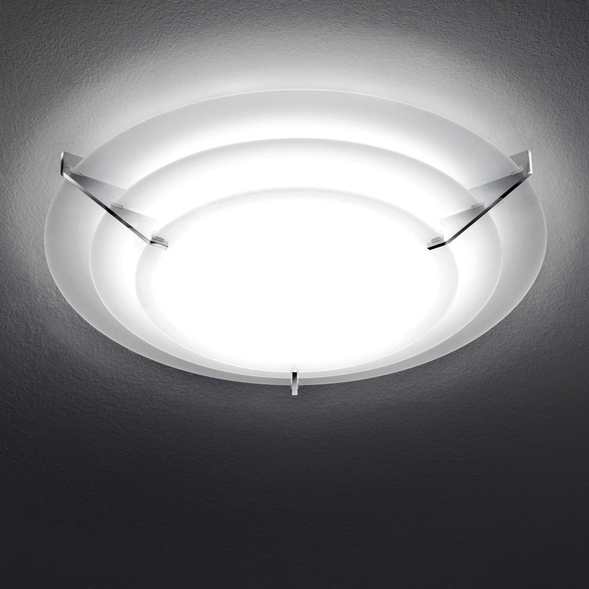 Milan Escala Deckenleuchte, rund, Ø: 39 cm, Glas satiniert