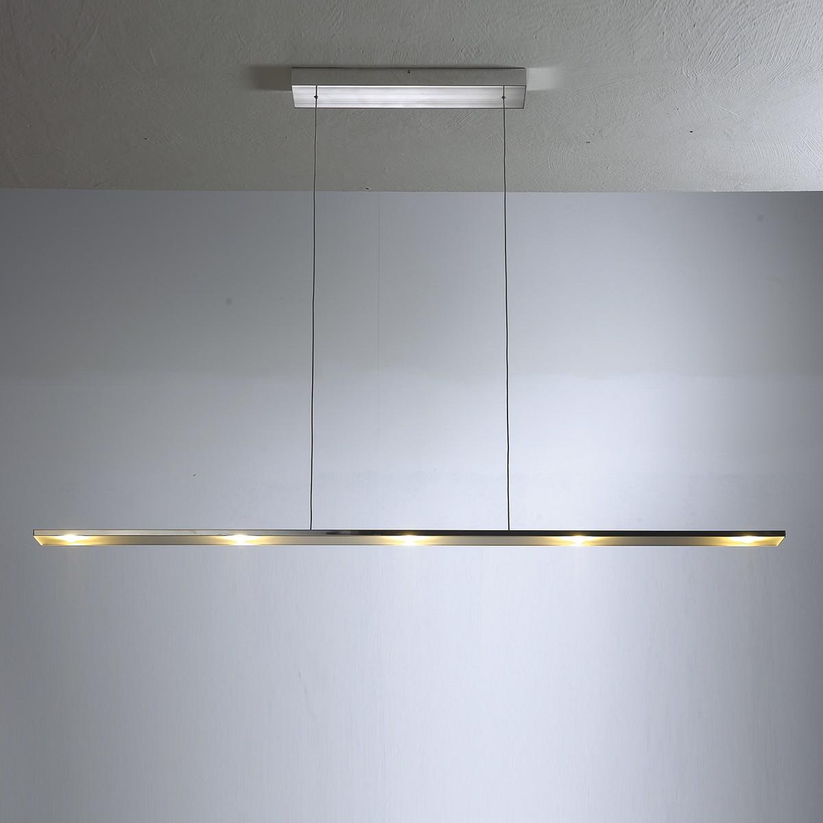 Bopp LEDs Go Pendelleuchte 6-flg., Aluminium geschliffen, extern dimmbar