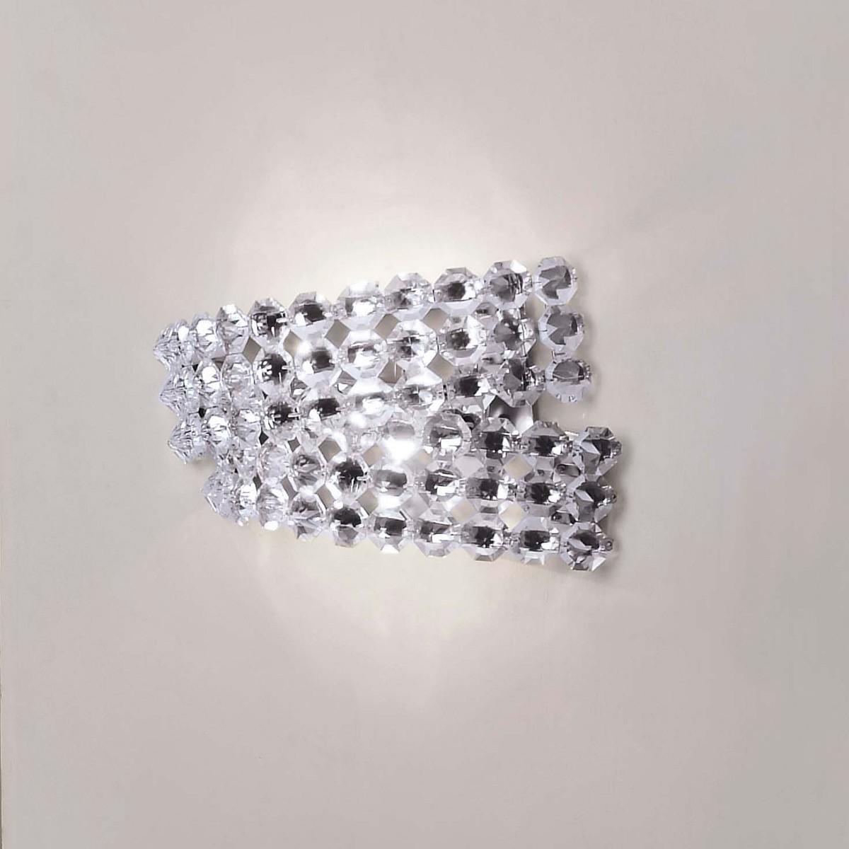 MARCHETTI Diamante AP2 Wandleuchte, Swarovski-Kristalle